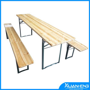 Garden Wooden Beer Table with Bench pictures & photos