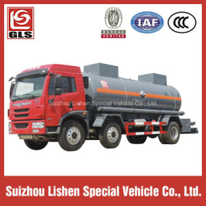 Tri Axle 20000L Acid Storage Tank Truck with 2 Compartments pictures & photos