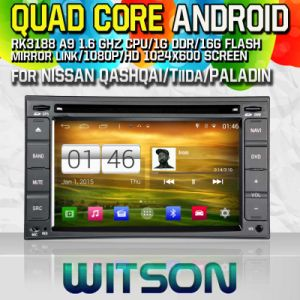 Witson S160 for Nissan Qashqai/ Tiida/Paladin Car DVD GPS Player with Rk3188 Quad Core HD 1024X600 Screen 16GB Flash 1080P WiFi 3G Front DVR Mirror (W2-M001) pictures & photos