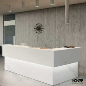 Artificial Stone Luxury White Reception Desk for Hotel pictures & photos
