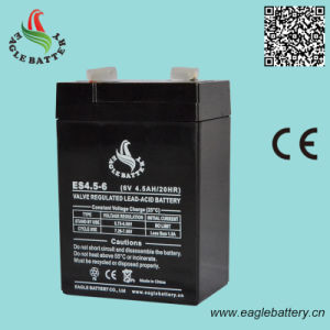 6V 4.5ah VRLA Rechargeable Sealed Lead Acid Battery pictures & photos