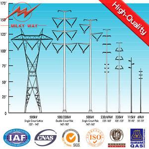 BV 15m 12kn Outdoor Galvanized Steel Electric Pole for Africa pictures & photos