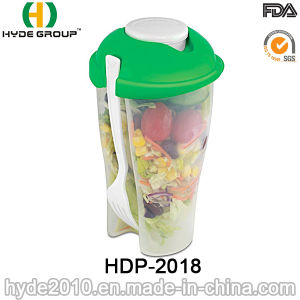 Food Container Salad Shaker Cup with Dressing Cup (HDP-2018) pictures & photos