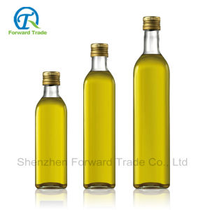 Nice Glass Olive Oil Bottle with Metal Cap