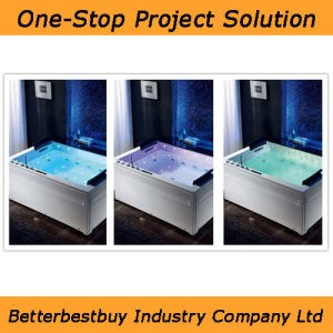 Double Pillow Jaccuzi with Colorful Lights pictures & photos