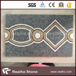 Grey&Yellow Marble Medallion Mosaic for Wall or Floor Decoration