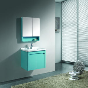 Blue Color Bright Lacquer Wall Cabinets Unit