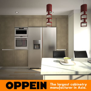 Oppein U Shaped Lacquer Wood Corner Modular Kitchen Cabinets (OP15-L33) pictures & photos