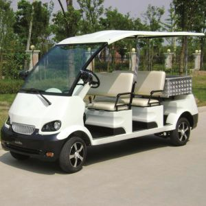 CE 4 Seats Electric Utility Transfer Vehicle with Cargo Box (Du-M8) pictures & photos