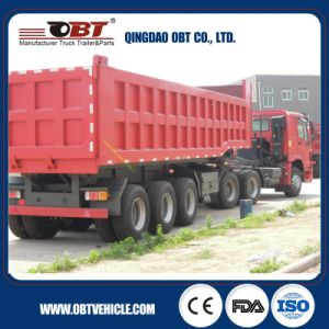3 Axle 50 Tons Loading Capacity Rear Dumper Semi Trailer pictures & photos