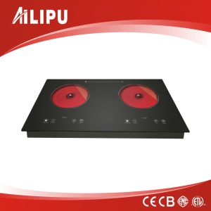 Touching Sensor Double Hotplate Waterproof Induction&Infrared Cooker/Builtin Cooking Top/Induction Stove/Two Burners Ceramic Hob pictures & photos