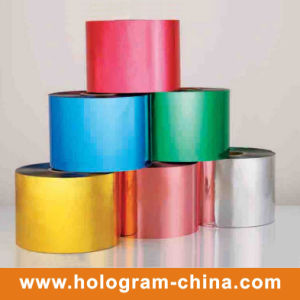 Colorful Tamper Evident Aluminum Embossing Film pictures & photos