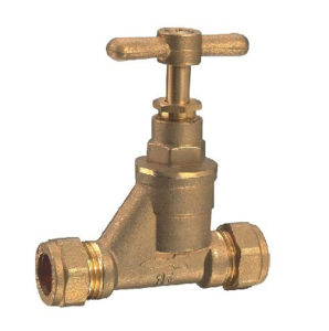 (HE-3008) Gate Valve with Brass Handle for Water