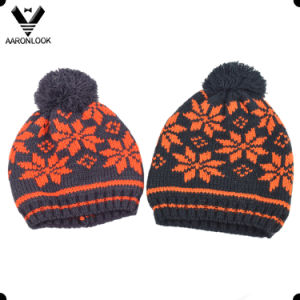 Children Winter Acrylic Jacquard Hat Snowflake Pattern pictures & photos