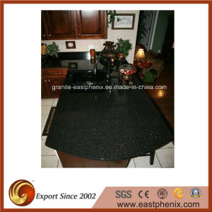 Hot Sale Black Galaxy Granite Kitchen Countertop pictures & photos