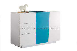 Modern Wooden UV High Gloss White&Blue Sideboard (Sea 301) pictures & photos