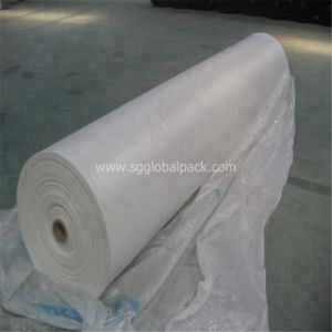 Plastic White Polypropylene Woven Flat Fabric in Roll pictures & photos