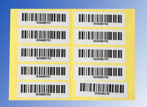 Custom Code-128 Sticky Barcode pictures & photos