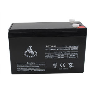 12V 7.0ah Mf Rechargeable VRLA Storage AGM Lead Acid Battery pictures & photos