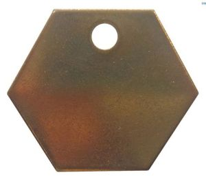 Blank Hexagon Metal Tag with a Hole (20Y567)