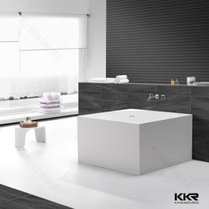 Kingkonree Square Solid Surface Bathtub Artificial Stone Bath Tub pictures & photos