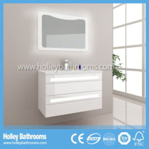 Hot LED Light Touch Switch High-Gloss Paint Hotel Bathroom Furniture (B919P)