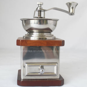 Stainless Steel Manual Adjustable Ceramic Burr with Coffee Grinder pictures & photos