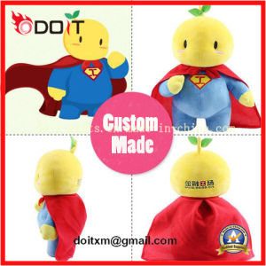 Custom Made Supper Man Fruits Corporate Mascot Plush Toy pictures & photos