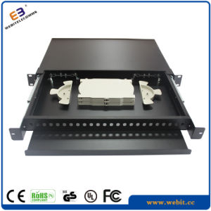 24 Port Blank Fiber Patch Panel with Different Front Panels pictures & photos