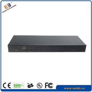 Rack Mountable 4 Cat5e Kvm Switch pictures & photos