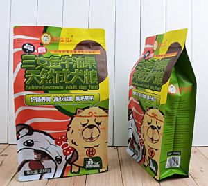 High Quality Pet Food Flat Bottom Standing Bags with Ziplock pictures & photos