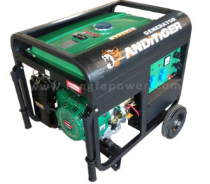 6.5/ 7.0kVA Electric Power Portable Prtrol Generator with Handle and Wheels pictures & photos