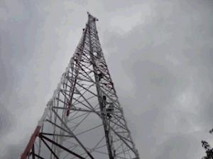25m 35m 45m 50m 55m 60m 70m 80m 90m 3 Legged Self-Supported Steel Tower