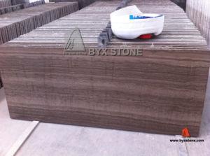 Natural Teakwood Brown Marble Floor Tiles with Grain pictures & photos