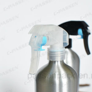 500ml Silver Aluminum Spray Bottle with Strong Trigger Spray Pump (PPC-ACB-009) pictures & photos