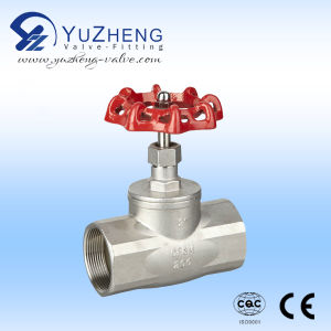 Stainless Steel Thread Globe Valve with Hand Wheel Nut pictures & photos