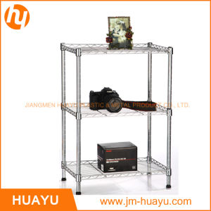 3 Tiers Powder Coated/Chrome Wire Display Stand Shelving Rack pictures & photos