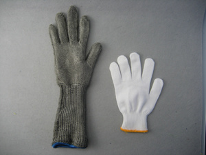 Metal Mesh Cut Resistant Level 5 Long Sleeve Work Glove pictures & photos