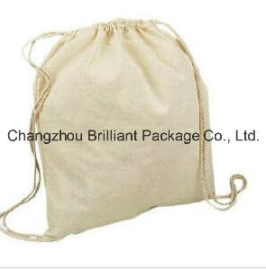 OEM Cheap Promotional Canvas Cotton Drawstring Bag pictures & photos