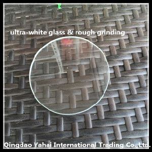 4mm Round Ultra-White Float Glass with Rough Grinding pictures & photos