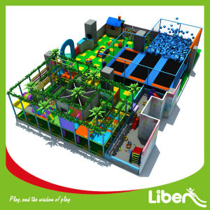 Professional Indoor Trampoline Park with Jungle Gym Playground pictures & photos