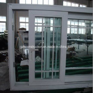 Double Glazing UPVC Sliding Window with Built-in Grid pictures & photos