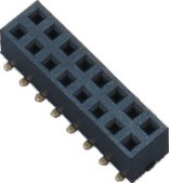 2.54 mm H = 3.5 mm Double Row 180 SMT Female Header pictures & photos