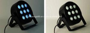 DMX512 Indoor LED Slim Flat PAR Can PAR 64 Light 9PCS 10W RGBW LED PAR Light pictures & photos