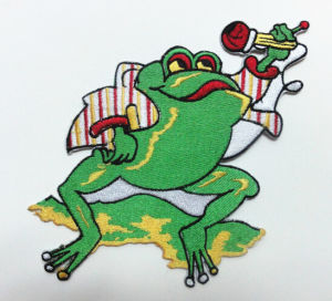 High-End Custom Cartoon Machine Embroidery Label pictures & photos