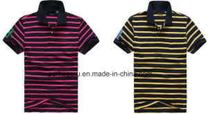Sunshine Mens Stripe Golf Polo Shirt pictures & photos