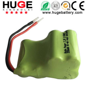 7.2V 2/3AAA 350mAh Ni-MH Rechargeable Battery Pack pictures & photos