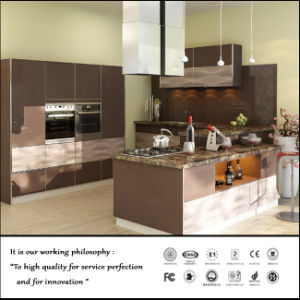 UV MDF High Glossy Kitchen Cabinet (FY2134) pictures & photos