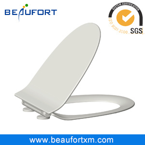 Slim V Shape Wrap Over White UF Sanitary Toilet Seat