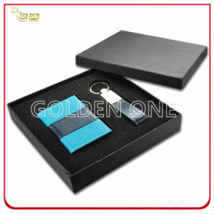 Business Leather Card Holder and Key Ring Gift Set pictures & photos
